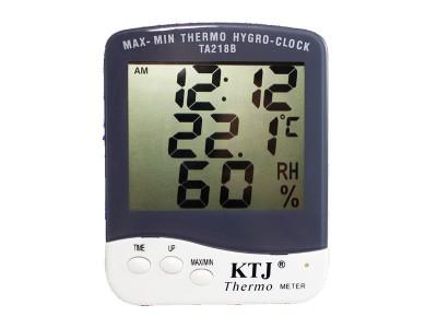 Termohigrómetro Lectura Digital con Reloj